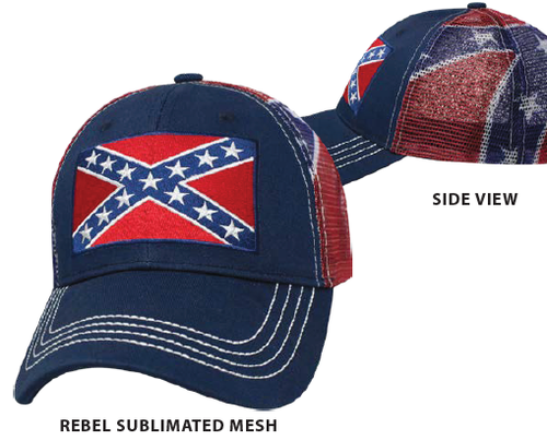 Confederate Sublimated Mesh Cap