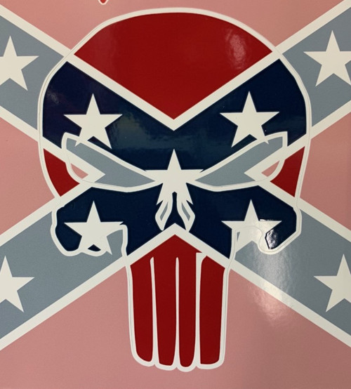 Confederate Flag Punisher Sticker *Made In America*