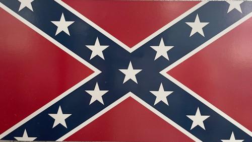 *Made In America* Confederate Flag Car Magnet