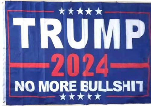 Trump  No More BS 2024 Flag