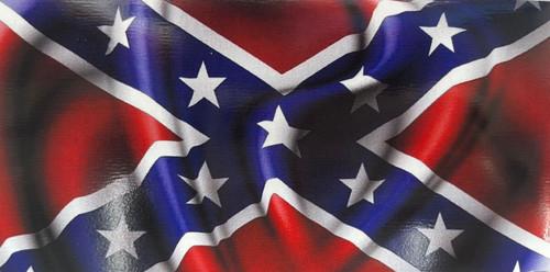 Waving Confederate Flag Sticker (Large)