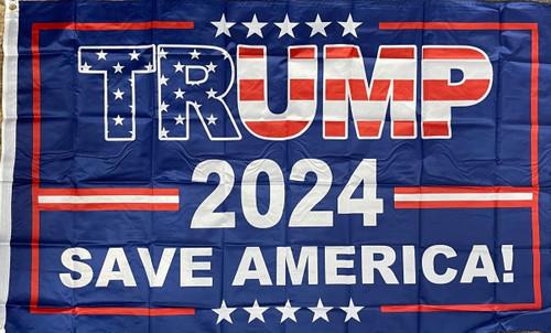 Trump 2024 Save America Flag