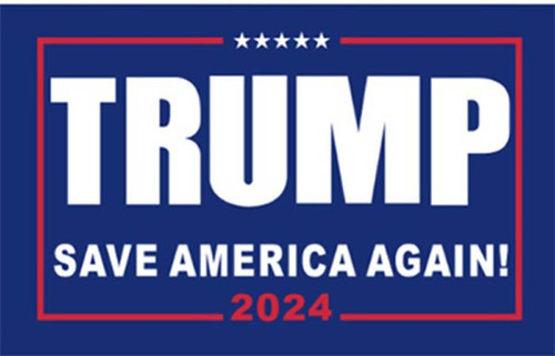 Trump Save America Back 2024 Flag