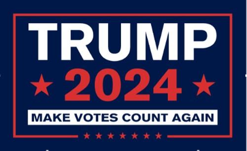Make Votes Count Again Trump 2024 Flag