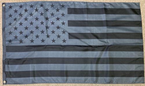 USA Dark Grey and Black Flag