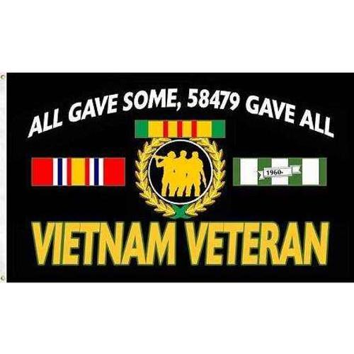 "Vietnam Veteran, ""All Gave Some, 58479 Gave All"" Flag"