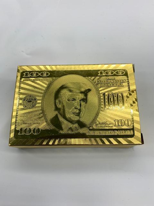 Gold Donald Trump playing cards