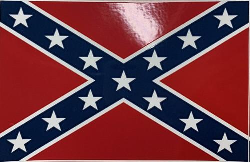 Confederate Flag Sticker (Small)