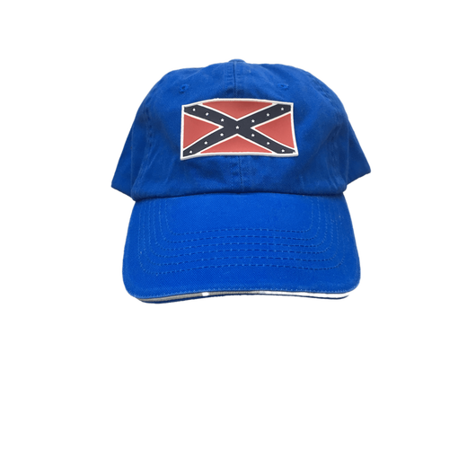 Blue Confederate Flag Hat