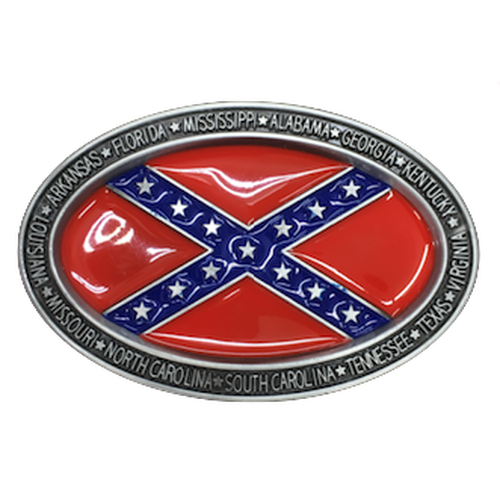 CSA Confederate Flag Belt Buckle