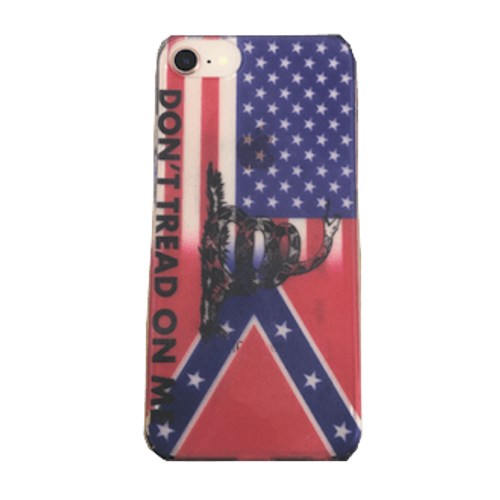 """""""Don't Tread On Me"""" Confederate Transition iPhone Case"""