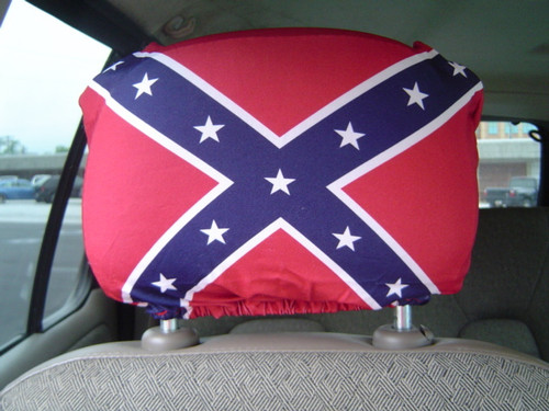 Confederate Battle Flag Auto Head Rest Cover