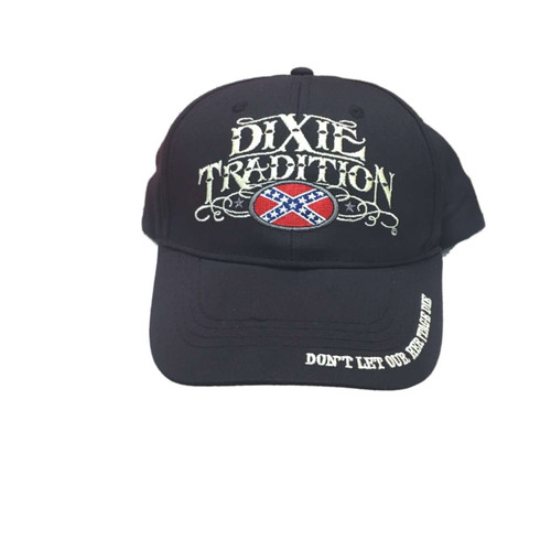 """Hat - """"Dixie Tradition"""" Confederate Flag Hat"""
