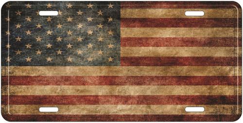 Vintage American Flag License Plate