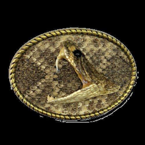 Rattlesnake Head Belt Buckle