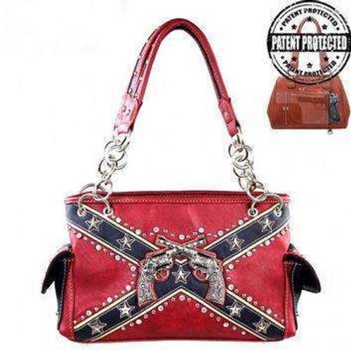 Revolver Confederate Flag Handbag