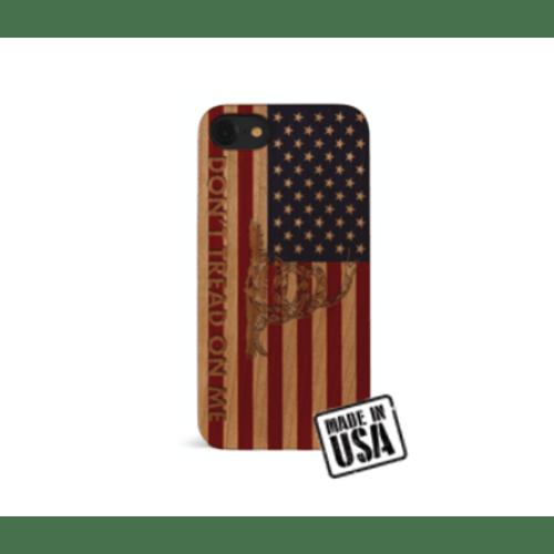 Wooden American Flag w/ Gadsden Snake iPhone Case