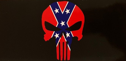 Confederate PUNISHER SKULL BUMPER STICKER