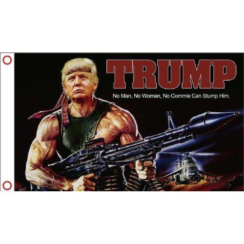 Rambo Trump Flag