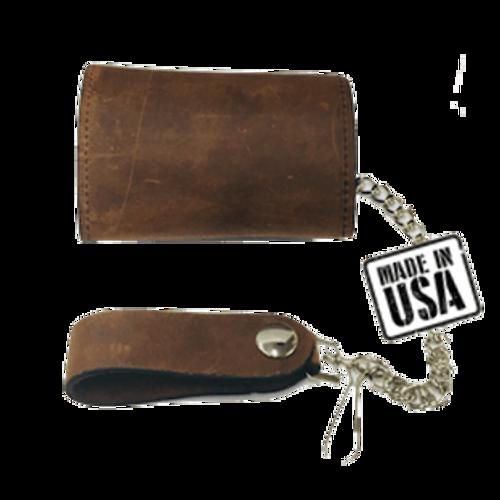 Vintage Brown Leather Wallet
