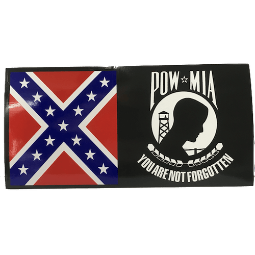 Confederate Flag & POW Sticker