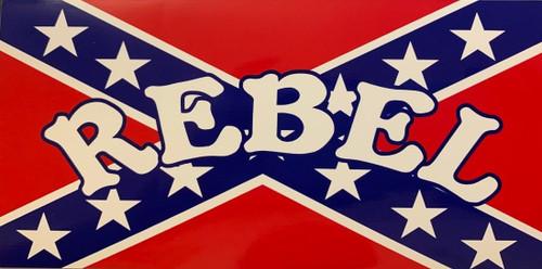 """""""Rebel"""" Confederate Flag Sticker"""