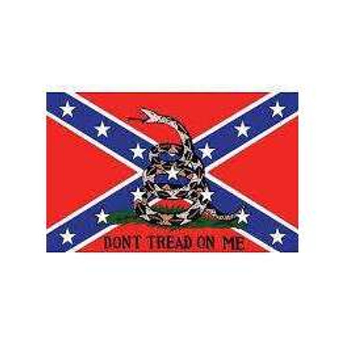 "Confederate ""Don't Tread On Me"" Poly Flag"