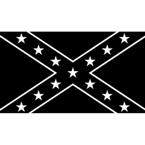 Black Confederate Flag Sticker