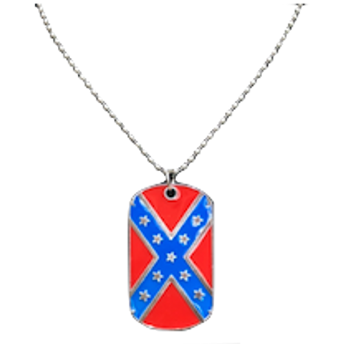 Heavy Duty Confederate Flag Dog Chain