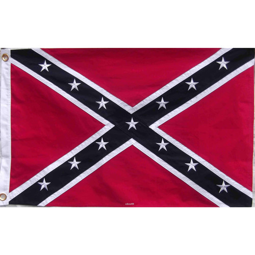 """38""""x 38"""" confederate embroidered flag"""