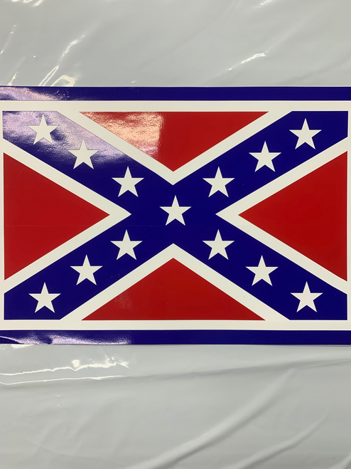Confederate flag sticker 8X12