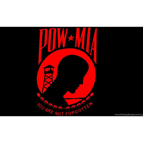 POW*MIA Polyester Flag (Red)