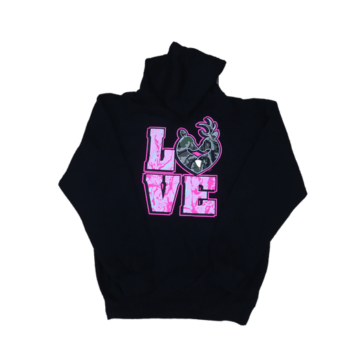 """Love"" Camo Deer Hooded Sweatshirt"