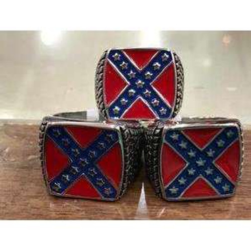Confederate 'stainless steel' Ring