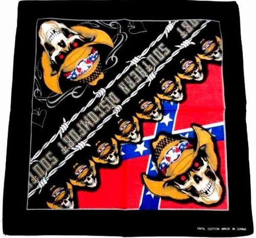 Confederate Flag Skull Bandana