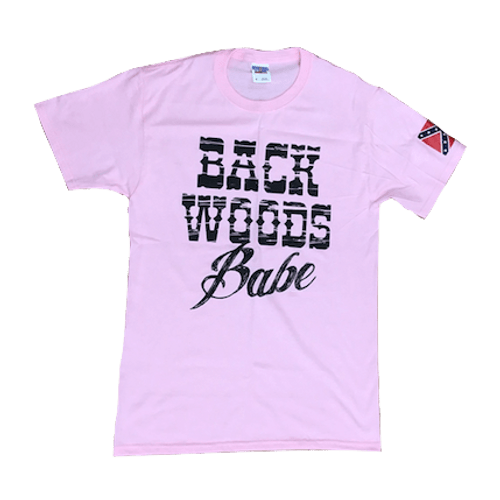 Back Woods Babe Confederate Flag T-Shirt