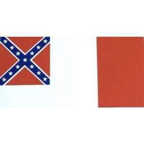 3rd Confederate Flag Sticker (Large)