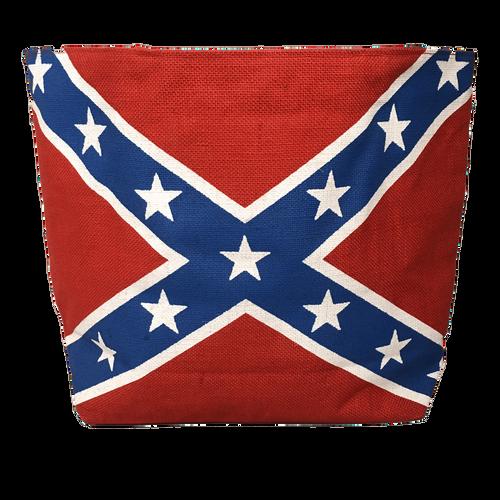 Canvas Confederate Flag Tote