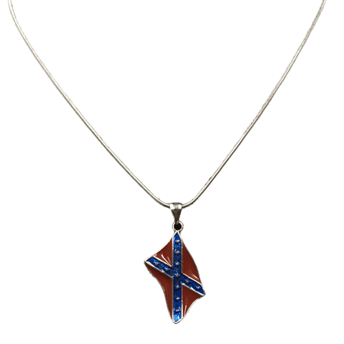 "12"" Confederate Flag Snake Chain"