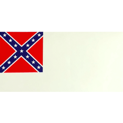 2nd Confederate Flag Sticker (Large)