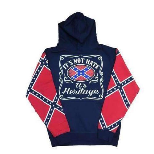 It's Not Hate, It's Heritage Confederate Flag Sweatshirt