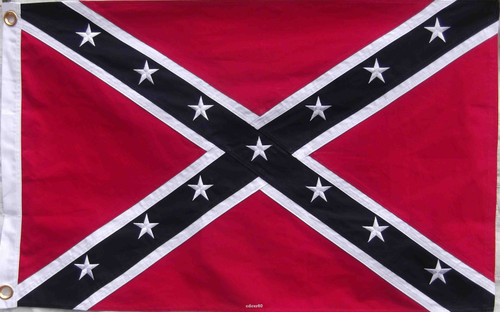 Confederate Embroidered cotton Flag