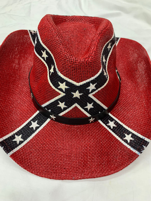 Confederate Battle Flag Cow Boy Hat