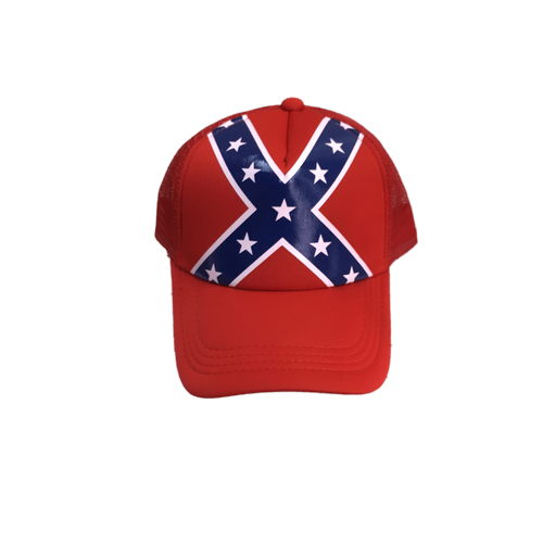 Red Confederate Flag Trucker Hat
