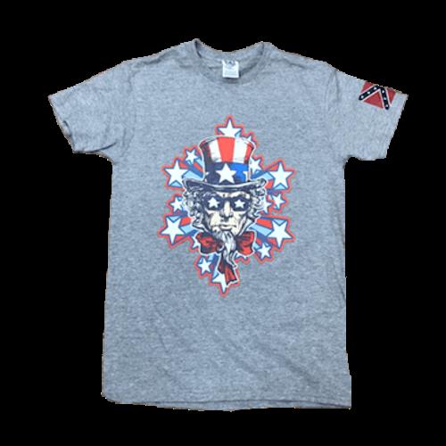 Star Struck Uncle Sam Confederate Flag T-Shirt