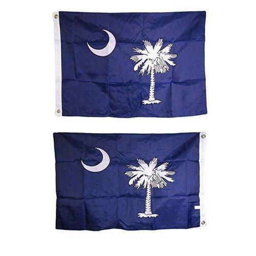 Embroidered South Carolina state flag 2X3