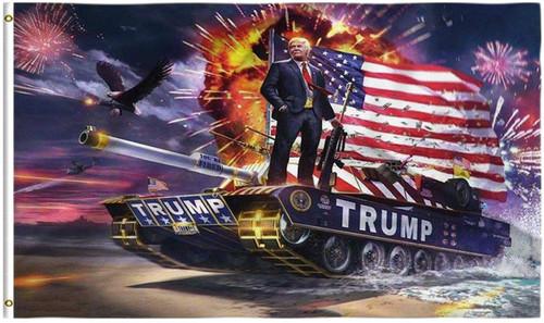 Kaiyuan Dynasty Trump Flag Tank Donald Trump Flags Support for President 2020 Banner