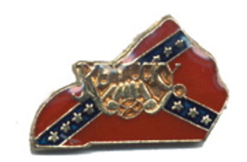 Kentucky Confederate State flag Lapel Pin