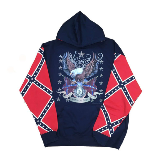 Stand and Fight Confederate Hooded