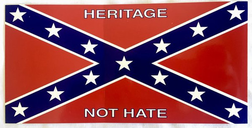 Confederate Flag Heritage Not Hate Sticker